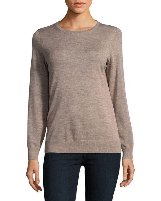 Lord & Taylor | Multicolor Knitted Wool Sweater | Lyst