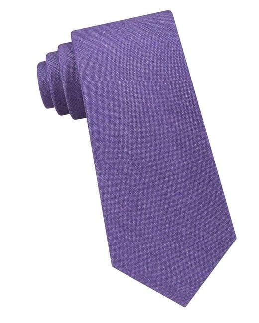 Calvin Klein | Purple Silk Tonal Tie for Men | Lyst