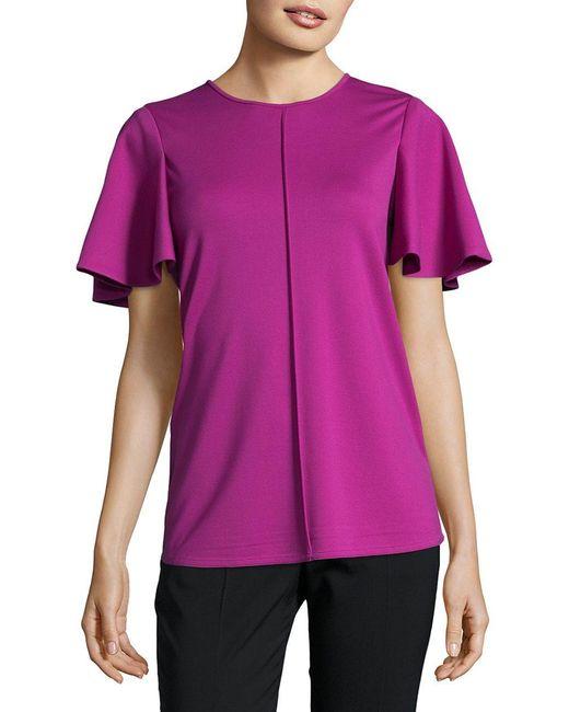 Ellen Tracy | Pink Viola Feminine Top | Lyst
