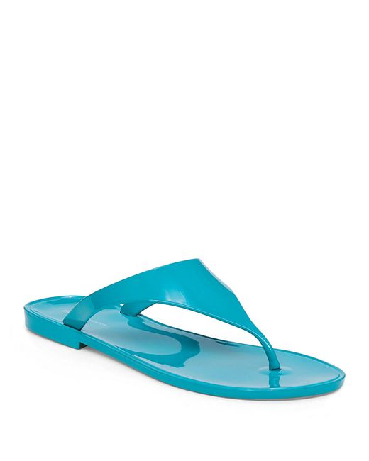 BCBGeneration   Blue Jelly Thong Sandals   Lyst