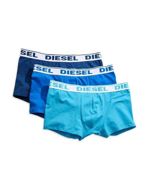 DIESEL | Blue Stretch Cotton Trunks, 3-pack for Men | Lyst
