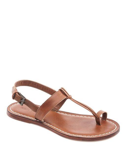 Bernardo | Brown Bernardo 'maverick' Leather Sandal | Lyst