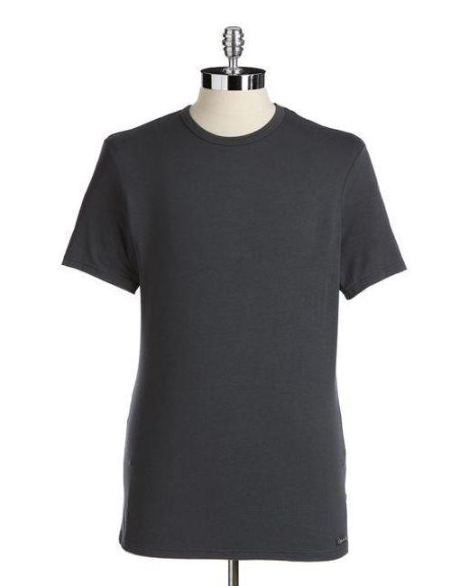 CALVIN KLEIN 205W39NYC - Gray Stretch Modal Tee for Men - Lyst