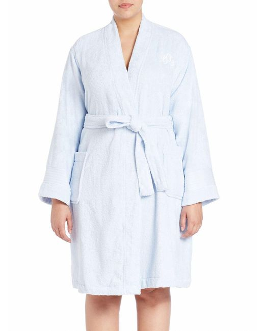 Lauren by Ralph Lauren - Blue Plus Greenwich Towel Cotton Robe - Lyst