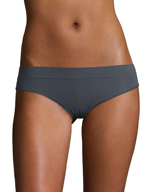 DKNY - Blue Seamless Mid-rise Thong - Lyst
