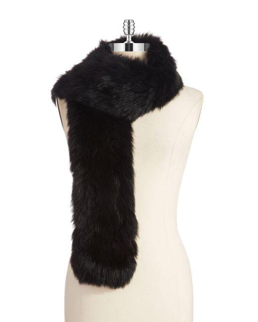 Surell - Black Fur Stole - Lyst
