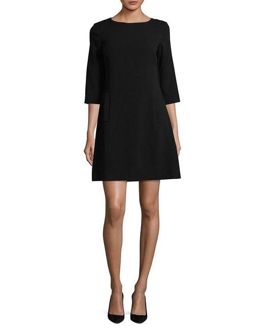 Eliza J - Black Knit A-line Dress - Lyst