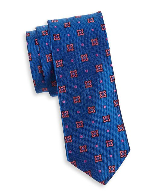 Ted Baker - Blue Contrast Dot Neat Silk Tie for Men - Lyst