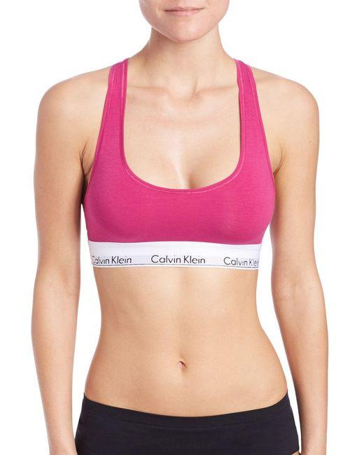 CALVIN KLEIN 205W39NYC - Pink Modern Cotton Bralette - Lyst