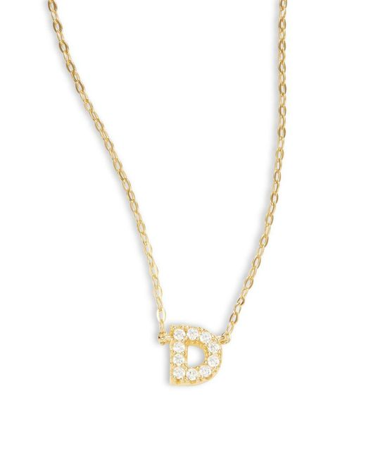 Nadri - Metallic Sterling Silver A Initial Necklace - Lyst