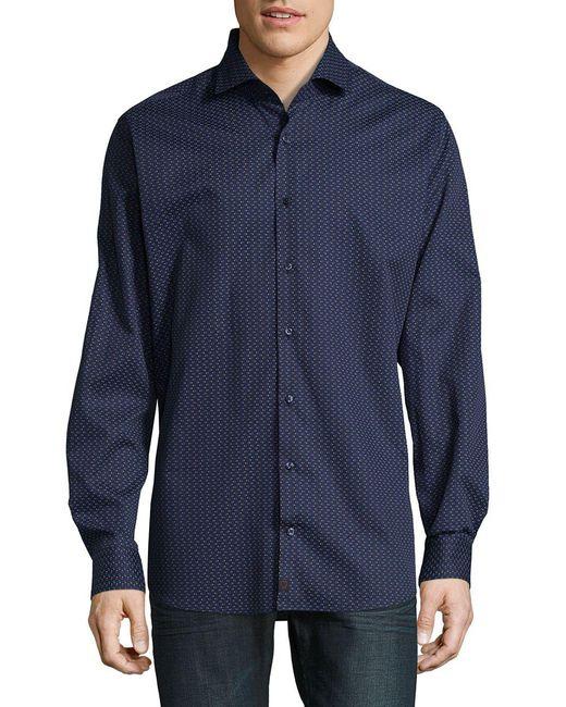 Strellson | Blue Slim-fit Dress Shirt for Men | Lyst