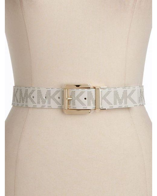 MICHAEL Michael Kors - Multicolor Reversible Faux Leather Logo Belt - Lyst