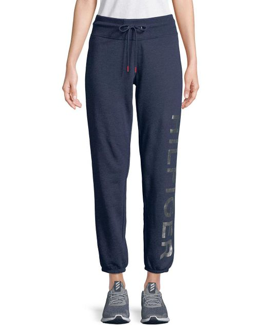 Tommy Hilfiger - Blue Logo Graphic Drawstring Sweatpants - Lyst