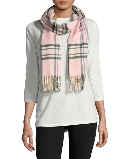 Lord & Taylor - Pink Plaid Scarf - Lyst