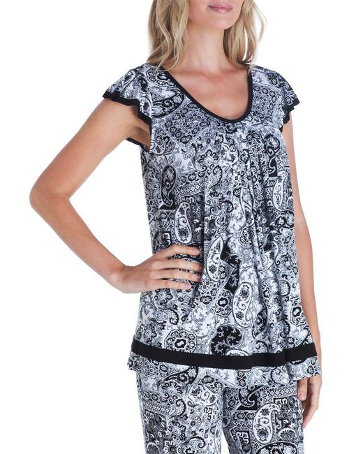 Ellen Tracy | Blue Yours To Love Short Sleeve Top | Lyst