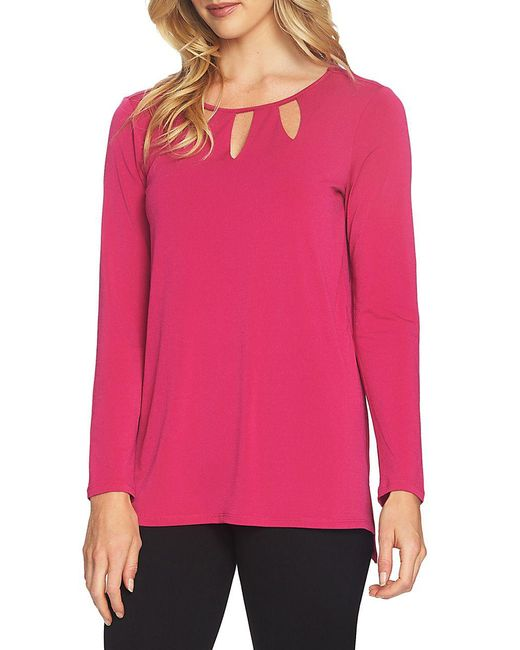 Chaus - Pink Long-sleeve Cutout Top - Lyst