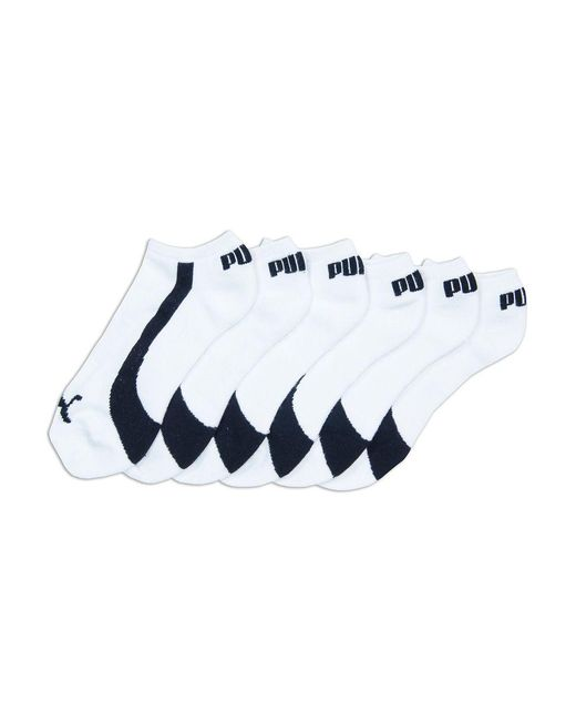 PUMA | White Colorblock Invisible Socks Set for Men | Lyst