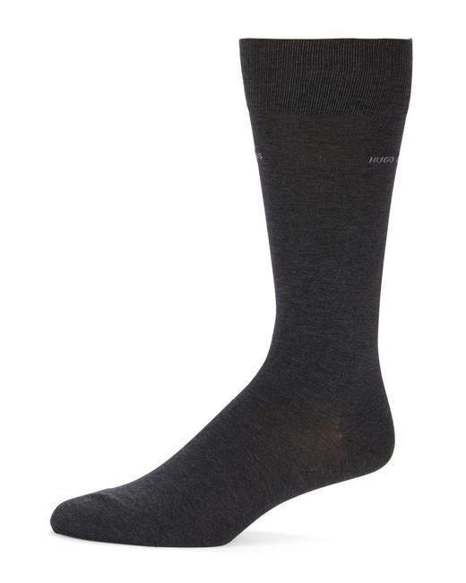BOSS - Gray Solid Dress Socks - Lyst