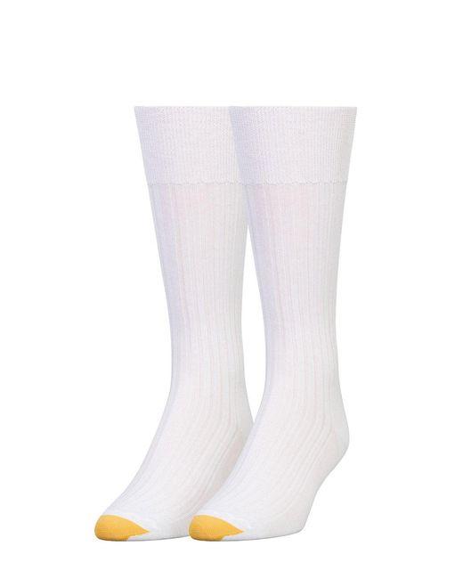Goldtoe | White Comfort Toe Seam Socks for Men | Lyst