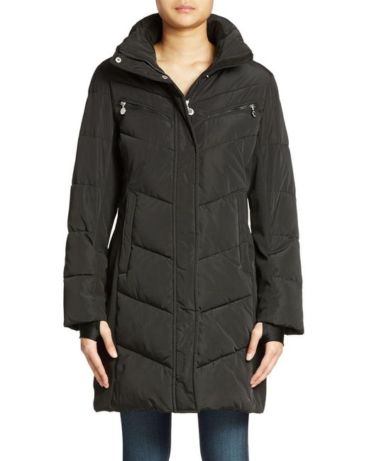 CALVIN KLEIN 205W39NYC - Black Colorblocked Puffer Coat - Lyst