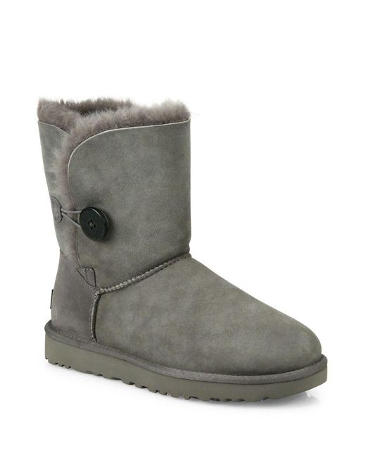 Ugg - Gray Classic Bailey Short Button Boots - Lyst