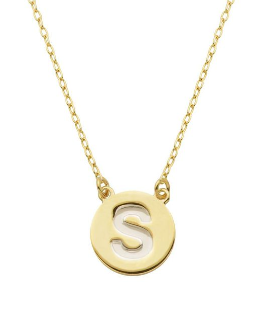 Lord & Taylor - Metallic Gold Plated Sterling Silver Pendant Necklace - Lyst