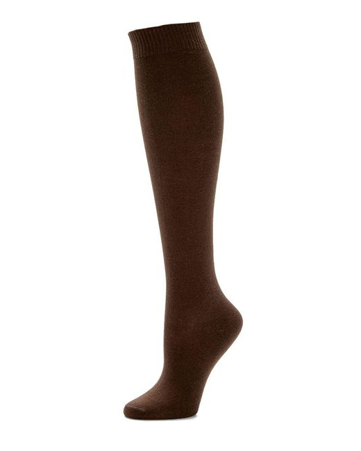 Hue | Brown Flat Knit Knee Socks | Lyst