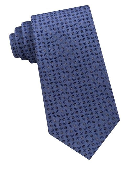 CALVIN KLEIN 205W39NYC - Blue Embroidered Silk Tie for Men - Lyst