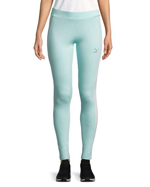 PUMA - Blue Go-to Stretch Leggings - Lyst
