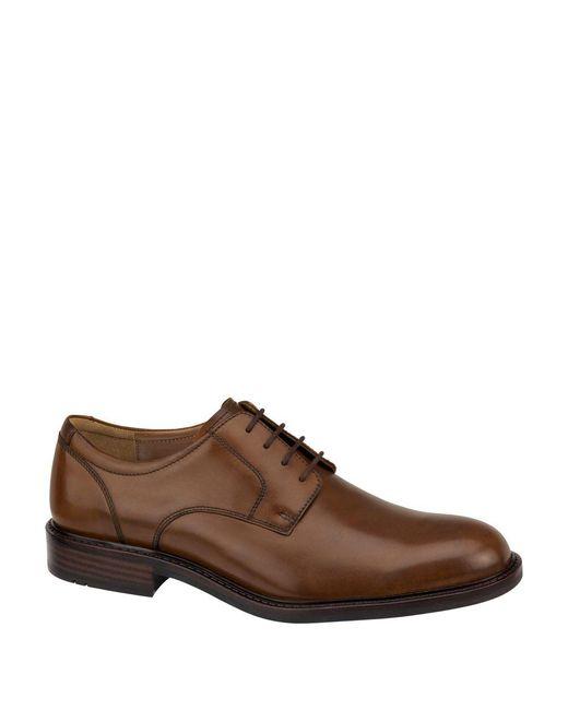 Johnston & Murphy - Brown Tabor Plain-toe Leather Oxfords for Men - Lyst