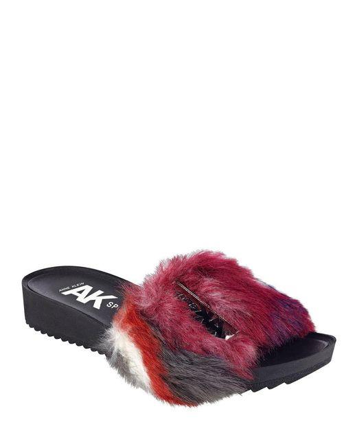 Anne Klein - Purple Sport Quency Slip-on Sandals - Lyst