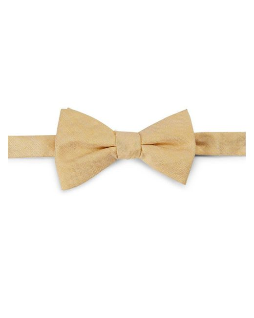 Cole Haan - Natural Silk-linen Bow Tie for Men - Lyst