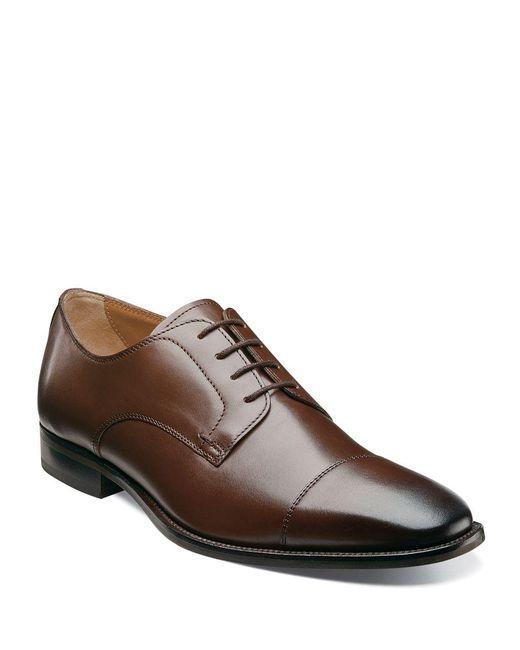 Florsheim - Brown Sabato Leather Cap-toe Oxfords for Men - Lyst