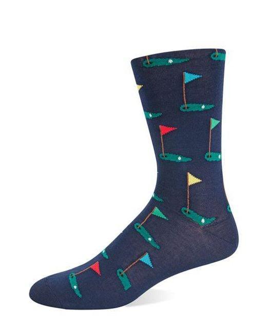 Hot Sox - Blue Golf Tee Knit Socks for Men - Lyst