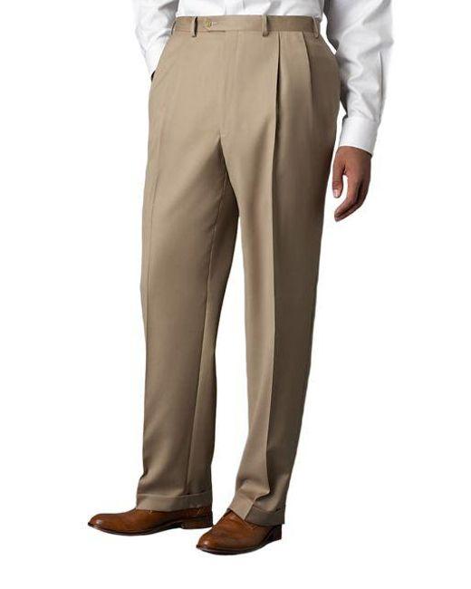 Lauren by Ralph Lauren - Natural Wool-cashmere-blend Cuffed Pants for Men - Lyst
