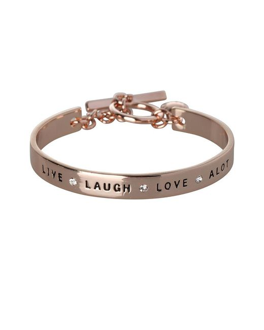 BCBGeneration - Metallic Basic Live Laugh Love Alot Crystal Bracelet - Lyst