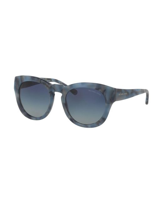 Michael Kors - Blue Summer Breeze 50mm Round Sunglasses - Lyst