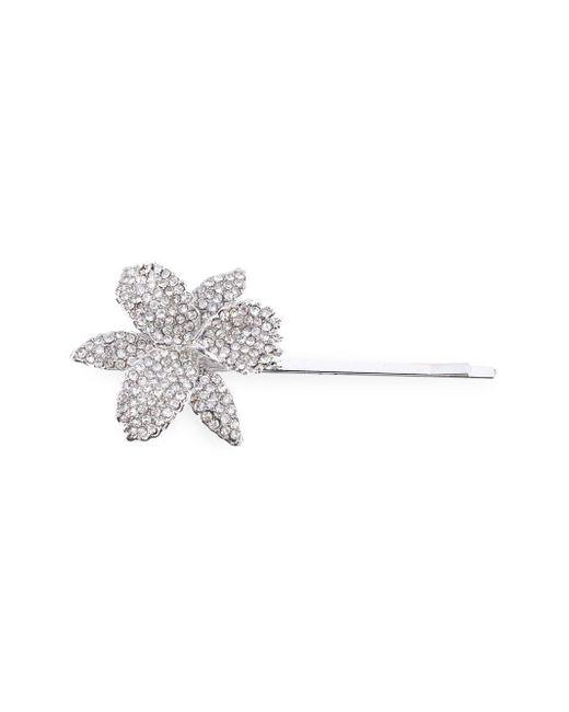 Nina - Metallic Chana Crystal Orchid Bobby Pin - Lyst