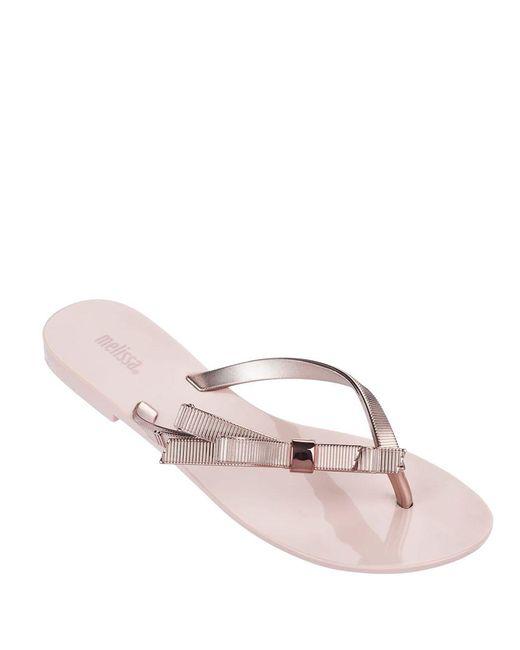 Melissa - Pink Harmonic Chrome Thong Sandal - Lyst