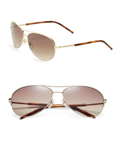 Marc Jacobs - Brown 59mm Havanna Aviators for Men - Lyst