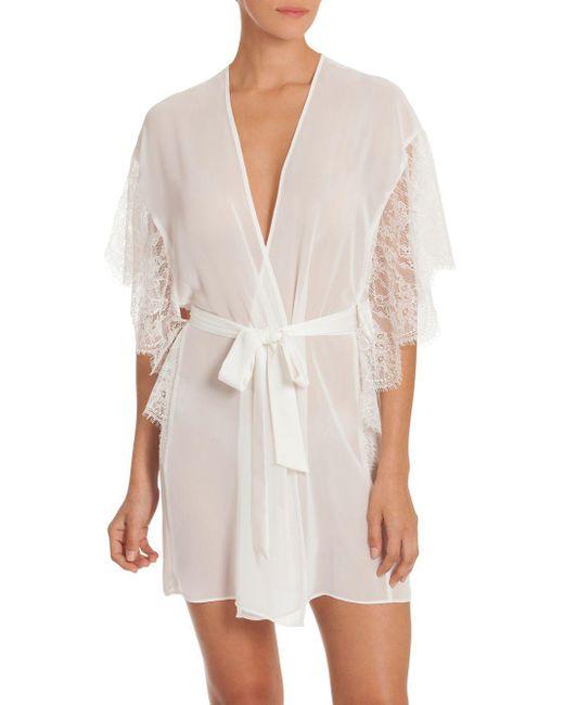 In Bloom - White Affinity Chiffon Wrap Robe - Lyst