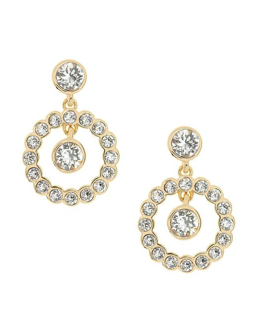 Ted Baker - Metallic Concentric Crystal Corali Crystal Drop Earrings - Lyst