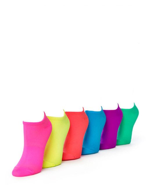 Hue - Pink Microfiber Socks 6 Pair Sport Pack - Lyst