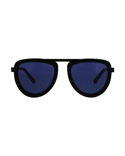 Kendall + Kylie - Black 50mm Bridgeless Teardrop Aviator Sunglasses - Lyst