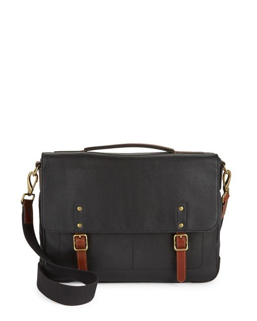 Fossil - Black Classic Leather Satchel - Lyst