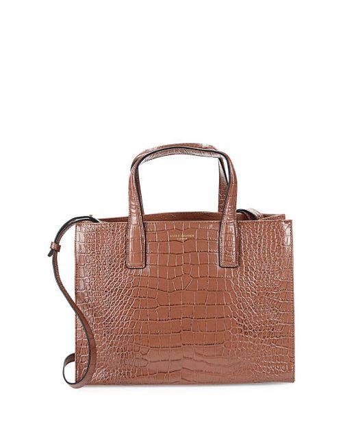 Kurt Geiger - Brown London Embossed Leather Tote Bag - Lyst