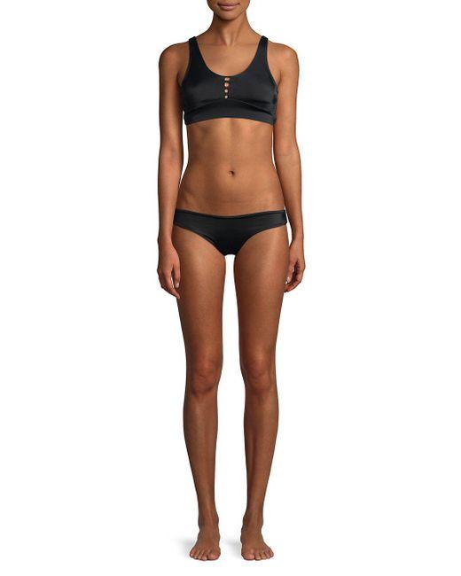 f802b4025db4f ... Peixoto - Black Jade Strappy Bikini Top - Lyst