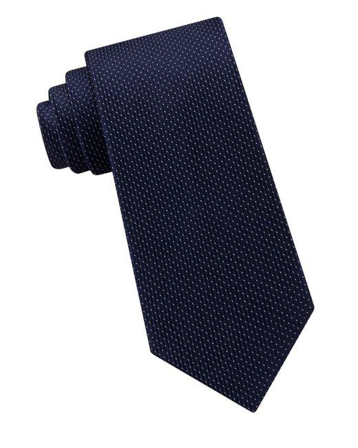 Michael Kors - Blue Satin Micro Pindot Silk Tie for Men - Lyst