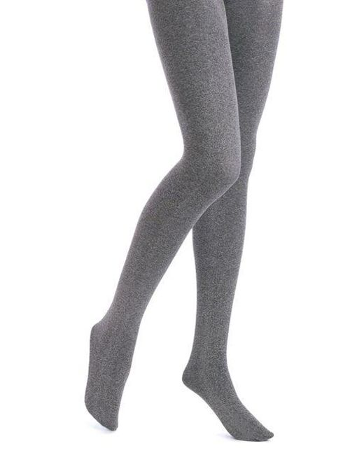 Hue - Gray Opaque Tights With Control Top - Lyst