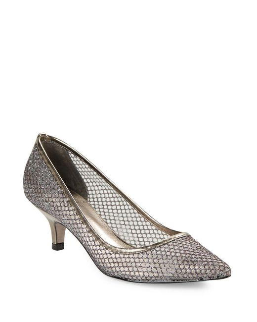Adrianna Papell - Metallic Lois Mesh Pumps - Lyst